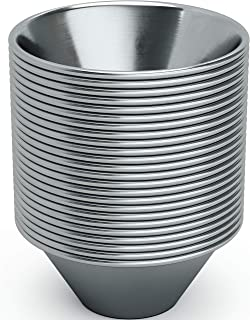 Pro Grade, Stainless Steel 1.5oz Sauce Cups 24 pack. Reusable, Stackable Metal Portion Containers for Sampling, Salad Dres...