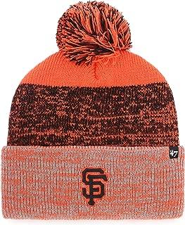 '47 San Francisco Giants Orange Cuff Static Beanie Hat with Pom Pom - MLB SF Cuffed Knit Cap