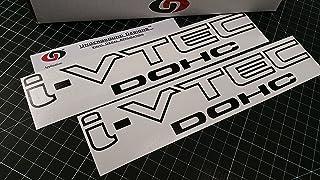 """UNDERGROUND DESIGNS I VTEC DOHC 12"""" (Pair X2) Vinyl Decal Sticker Import Tuner Gloss Black"""