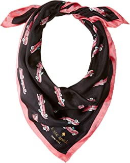Kate Spade New York - Hot Rod Silk Bandana Scarf