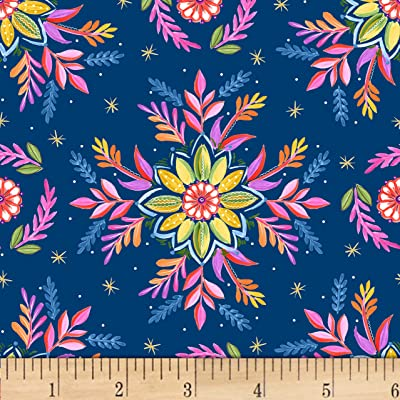 1 Yard Gypsy Song Butterfly Blue Quilt Fabric Free Shipping