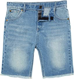 Light Wash Denim Shorts (Little Kids/Big Kids)