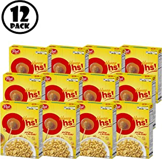 ( Pack of 12 ) Post Honey Oh's Breakfast Cereal, Filled O's, 14 Oz