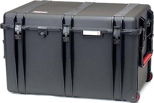 HPRC 2800WE Hardcase mit Rollen (TX01 Material, 180 Liter Volumen, ohne Inhalt) Schwarz