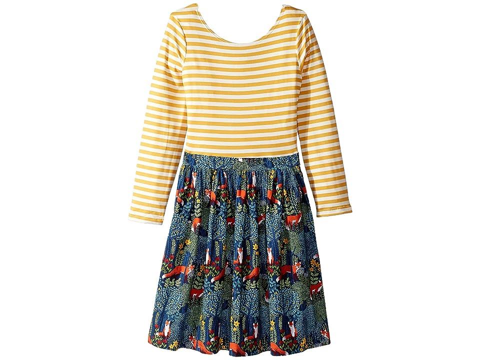 fiveloaves twofish Fox Abbie Dress (Toddler/Little Kids/Big Kids) (Navy) Girl