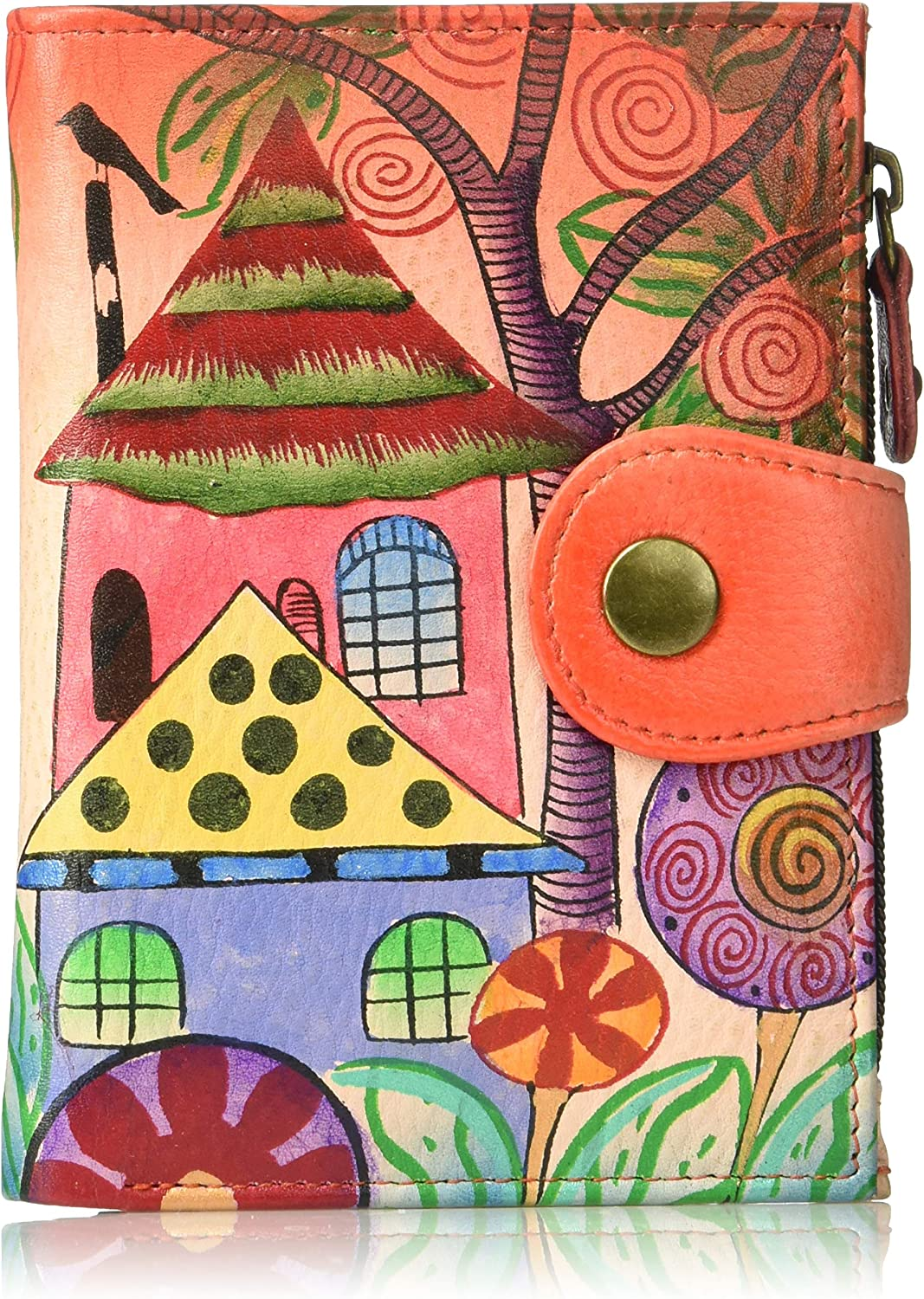 Anna by Anuschka Genuine Leather Albuquerque Max 45% OFF Mall Hand-Painted Wallet Ladies Or