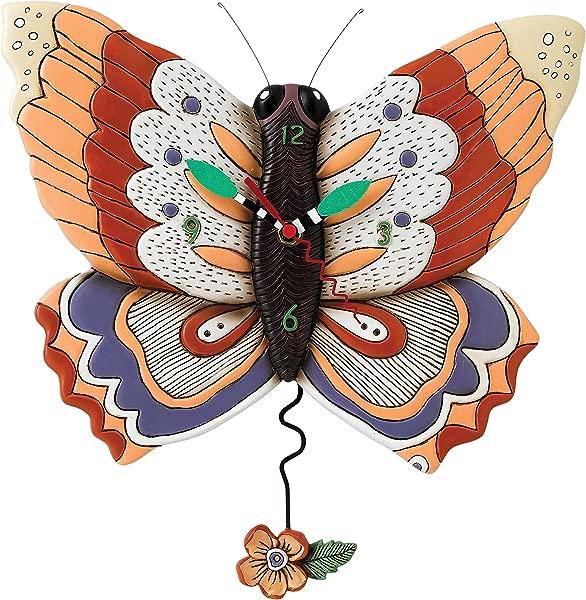 Allen Designs Free Flying Butterfly Pendulum Clock