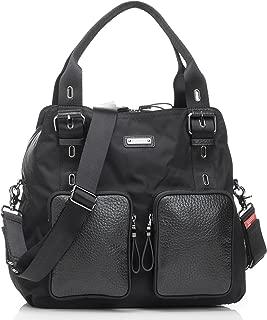 Storksak Alexa Luxe Leather Shoulder Bag Diaper Bag, Black