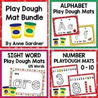 Back to School ABC, Sight Word, and Number Mats: Ideal for Tracing and For Use with PlayDough