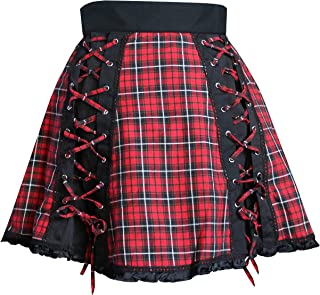 Victorian Gothic Steampunk Punk Emo Swing 50's Lace-Up Skirt