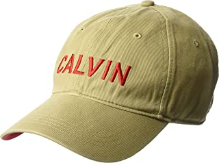 Calvin Klein Men's Embroidered Calvin Baseball Dad Hat