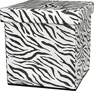 Best zebra print storage ottoman Reviews