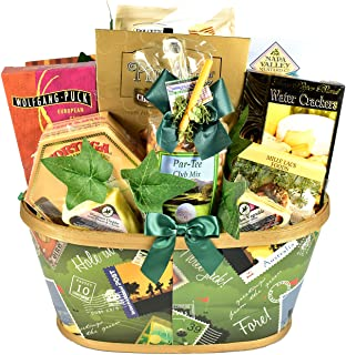 Gift Basket Village Par-Tee On, Golf Themed Gift Basket For Those Who Love The Game Of Golf - With Snacks to Enjoy After A...