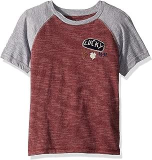 Boys' Short Sleeve Stripe Raglan Tee Shirt