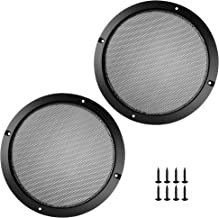 Bluecell 2 pcs Black Color Speaker Grills Cover Case with 8 pcs Screws for Screw Hole C to C 8.25