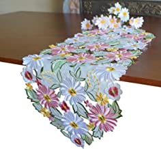 Table Runner//Dresser Scarf Stamped for Embroidery Daisies /& Violets