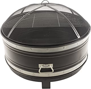 Pleasant Hearth OFW651R Colossal Fire Pit, Black