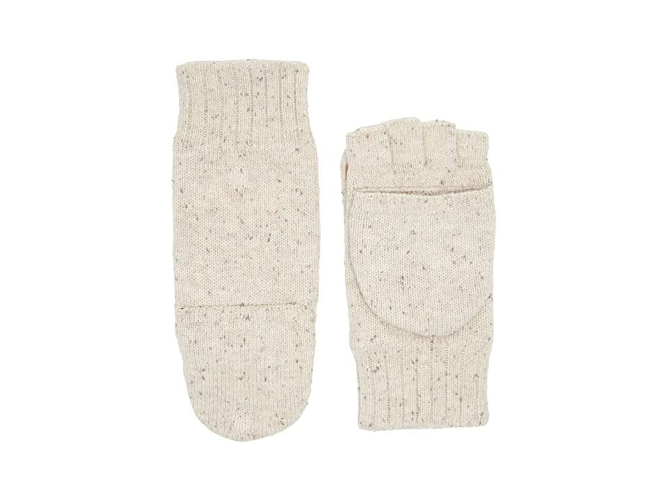 UGG Classic Knit Flip Mittens (Birch Heather) Extreme Cold Weather Gloves