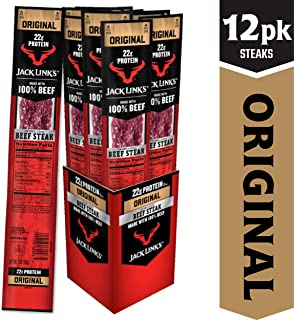 Jack Link's Premium Cuts Beef Steak, Original, 2 oz., 12 Count – Great Protein Snack with 23g of Protein and 120 Calories per Serving, Made with 100% Premium Beef
