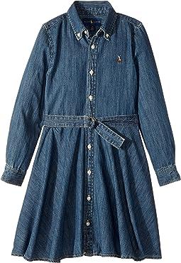 Polo Ralph Lauren Kids - Denim Fit-and-Flare Shirtdress (Little Kids)