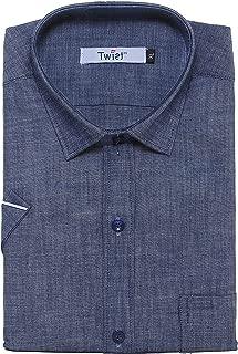 Twist99 Men's Casual Linen Shirt for Mens - Half Sleeves Shirts for Men - Short Sleeve Shirts for Men - Regular fit Shirts for Men