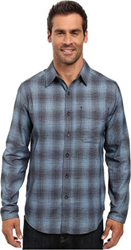 Performance Flannel Ombre Long Sleeve Shirt