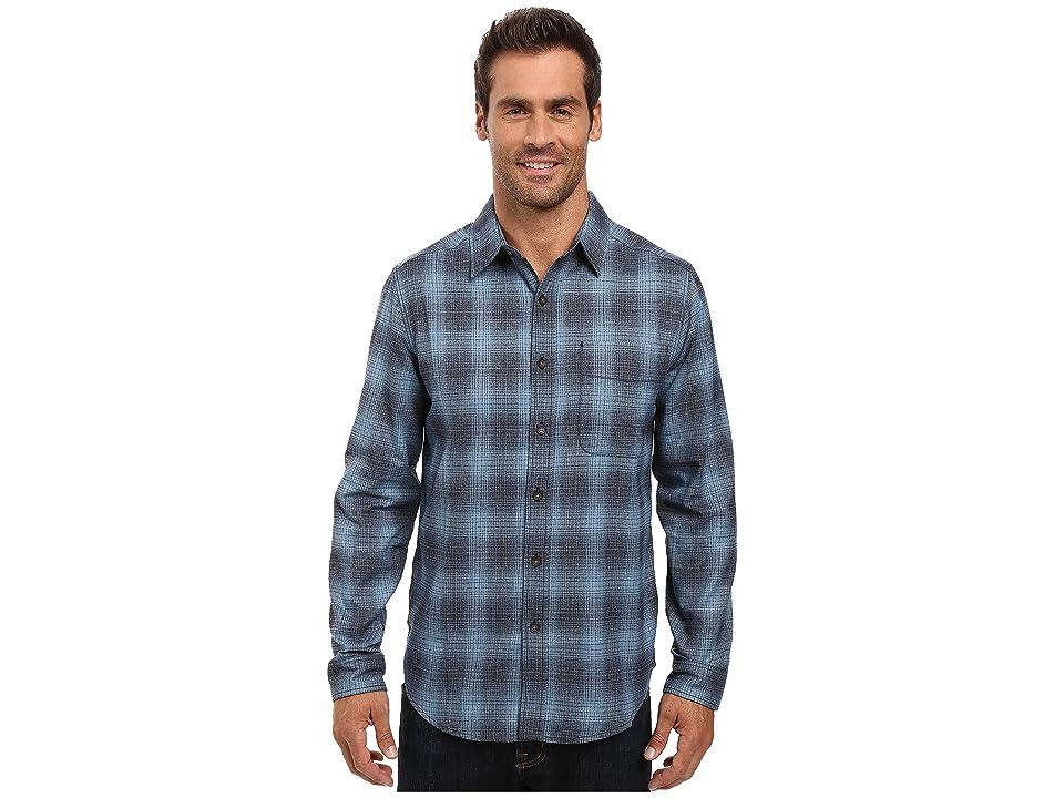 Royal Robbins Performance Flannel Ombre Long Sleeve Shirt (Blue Stone) Men