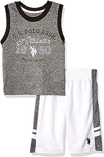 U.S. POLO ASSN. Boys 2 Piece Athletic Tank and Mesh Short Set Shorts Set