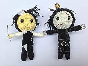String Doll World - String Doll Keychain - Edward Scissorhands & Sweeney Todd