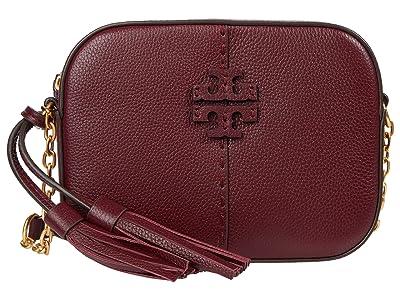 Tory Burch McGraw Camera Bag (Claret) Bags