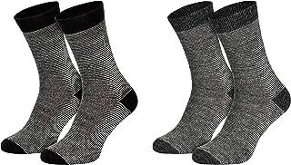 Piarini, 2 pares de calcetines de alpaca, cálidos calcetines de lana para hombre y mujer, ligeros, transpirables, de lana fina
