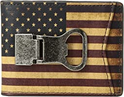 M&F Western - Vintage USA Flag Money Clip Wallet
