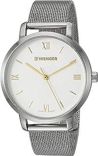 Wenger Women's Metropolitan Donnissima Swiss-Quartz Stainless-Steel Strap, Silver, 16.5 Casual Watch (Model: 01.1731.104)