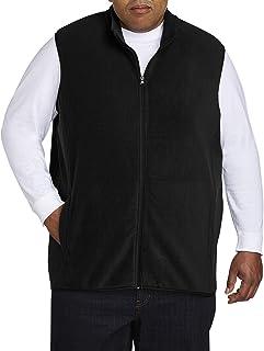 Amazon Essentials Men's Big & Tall Full-Zip Polar Fleece Vest fit by DXL