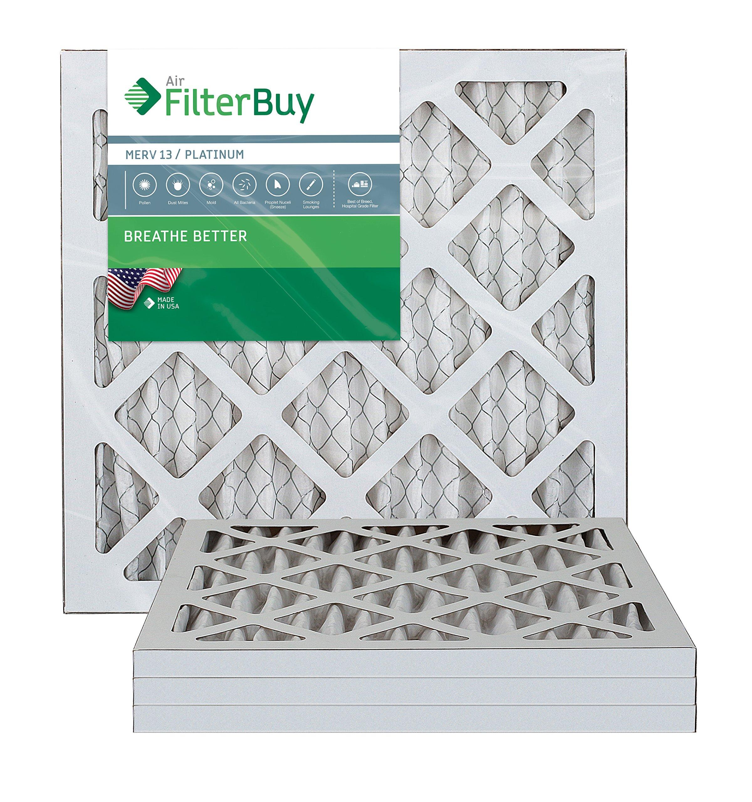 Pack of 2 Filters FilterBuy 30x30x1 MERV 13 Pleated AC Furnace Air Filter, Platinum 30x30x1