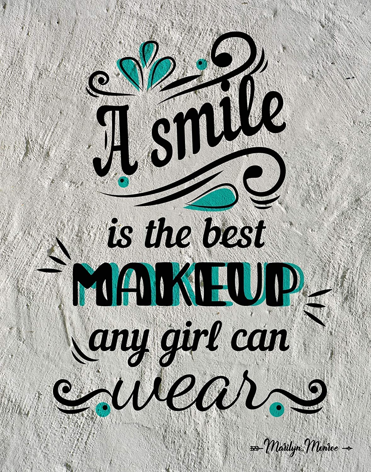 A Smile Is The Best Makeup trend rank Marilyn Print Wall Art Now free shipping Monroe Quote