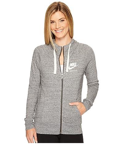Nike Gym Vintage Full Zip Hoodie (Carbon Heather/Sail) Women