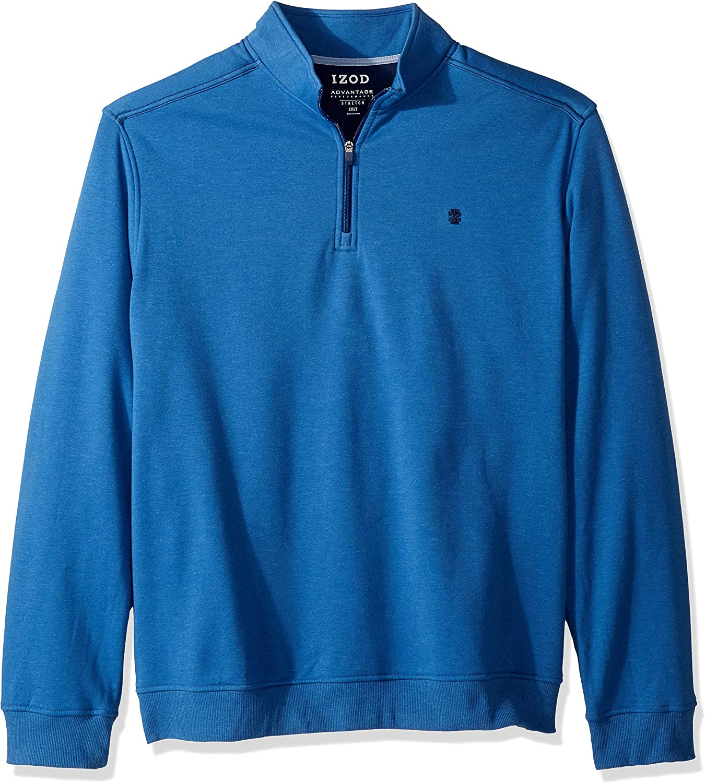 IZOD Men's Big and Tall Advantage Performance Quarter Zip Fleece Pullover
