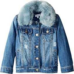 Splendid Littles - Faux Fur Collar Denim Jacket (Toddler