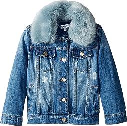 Splendid Littles - Faux Fur Collar Denim Jacket (Toddler