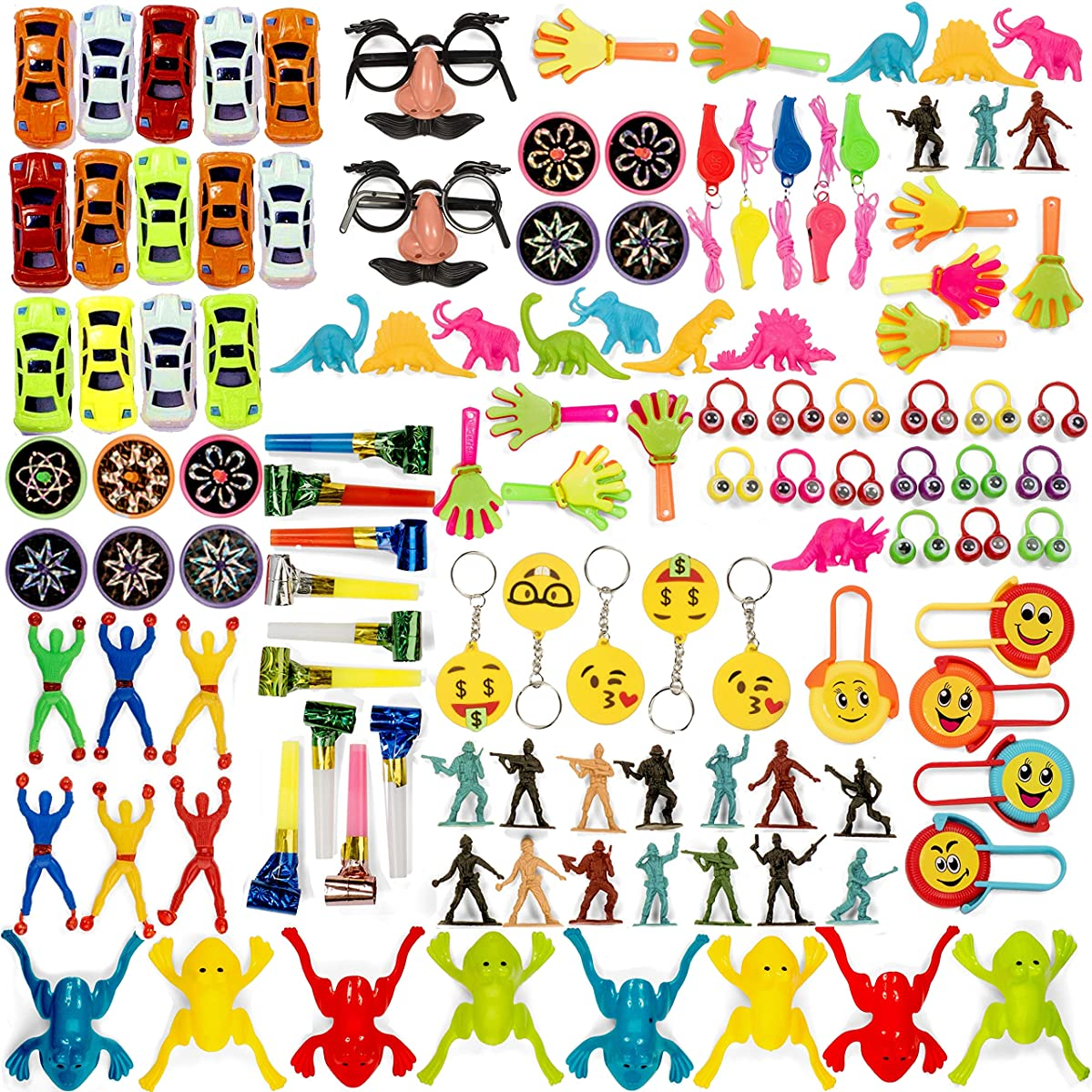 Bulk Toy Assortment - 120 Piece Party Favors for Kids, Treasure Box Prizes for Classroom, Pinata Filler, Small Toys, Goodie Bag Fillers, Little Prizes