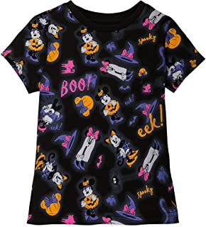 Minnie Mouse Halloween T-Shirt for Girls - Glow-in-The-Dark Multi