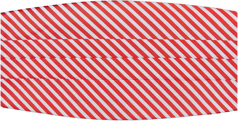 Jacob Alexander Boys' Christmas Candy Cane Red White Stripe Cummerbund