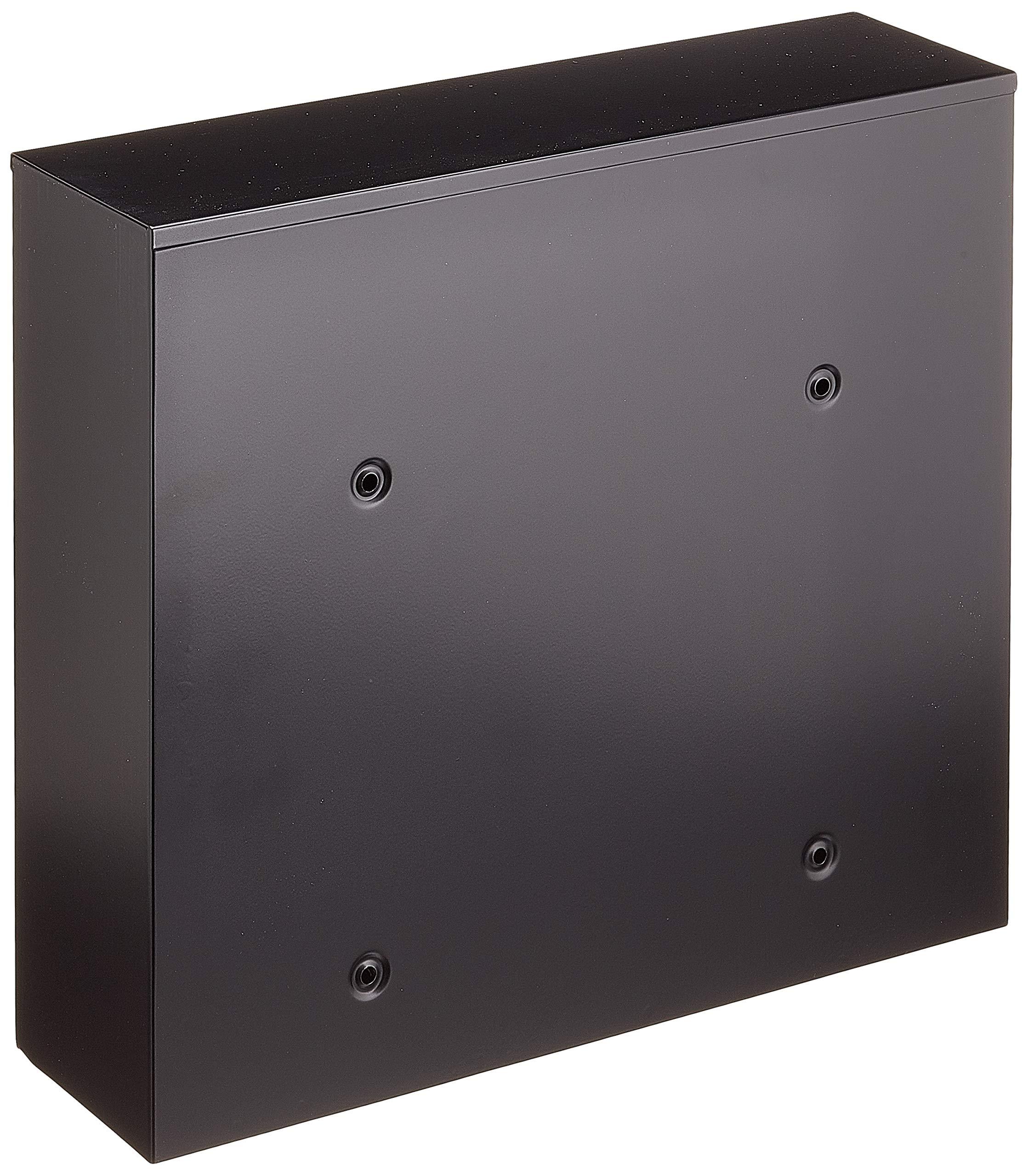 Buz/ón pared Acero galvanizado negro Correo Postal decorativo V13