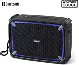 iHome iBT374 Weather Tough Portable Rechargeable Bluetooth Speaker with Speakerphone,..