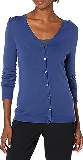 Amazon Brand - Lark & Ro Women's Long Sleeve V Neck Cardigan