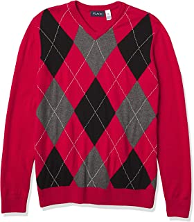 Smoke 9-12 Months The Childrens Place Boys Toddler Uniform V-Neck Sweater Vest