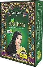 Polvo de henna negro Kangana para cobertura 100% gris - Polvo de henna negro natural para tinte para el cabello/color - 6 bolsas en el interior - Total 60 g (2.11 oz)