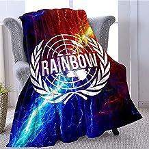 RealRiRi Rainbow Six Siege Flannel Fleece Quilt Throw Blanket for Bed Sofa Couch Car