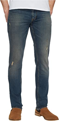Slim Destructed Jeans in Folly Blue